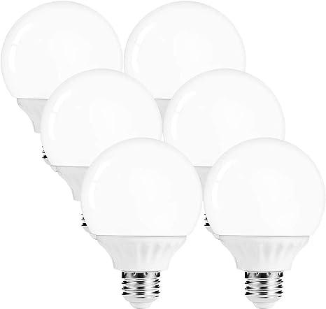 Amazon Com Lohas G25 Globe Light Bulbs Led Vanity Lights 40 45w Equivalent Daylight 5000k Bathroom Round Light Bulb 520lm Lights E26 Edison Base Lamp For Bathroom Makeup Mirror Home Lighting Not Dim 6 Pack