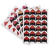 8Pcs Photo Mounting Sticker Paper Kraft Paper Corner Stickers Photo Corners Self Adhesive for Wedding Party DIY Scrapbooking Album Dairy,Total 192 Corners