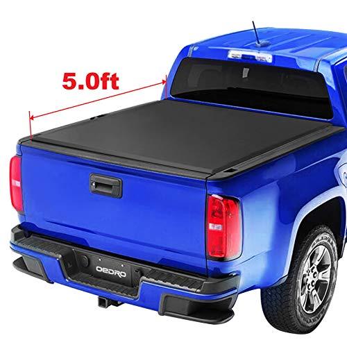 oEdRo TRI-FOLD Truck Bed Tonneau Cover Compatible with 2015-2019 Chevy Colorado/GMC Canyon   Fleetside 5' Bed (Chevrolet Colorado Cover Tonneau)