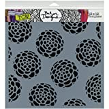 The Crafters Workshop TCW366 12 in. x 12 in. Design Template Scallop Flower