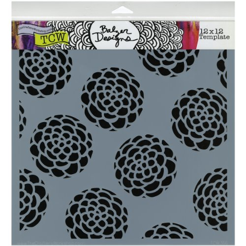 The Crafters Workshop TCW366 12 in. x 12 in. Design Template Scallop Flower by The Crafter's Workshop
