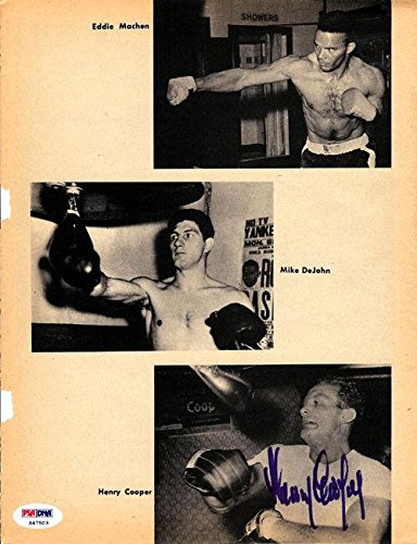 Henry Cooper Authentic Autographed Signed Magazine Page Photo S47503 PSA/DNA Certified Autographed Boxing Magazines