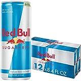 Red Bull Energy Drink Sugar Free 12 Pack of 8.4 Fl Oz, Sugarfree