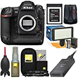 Nikon D5 Digital SLR Camera Body (Dual XQD Slots) with 120GB Card + Reader + Video Light Set + GPS Adapter + Cleaning Kit