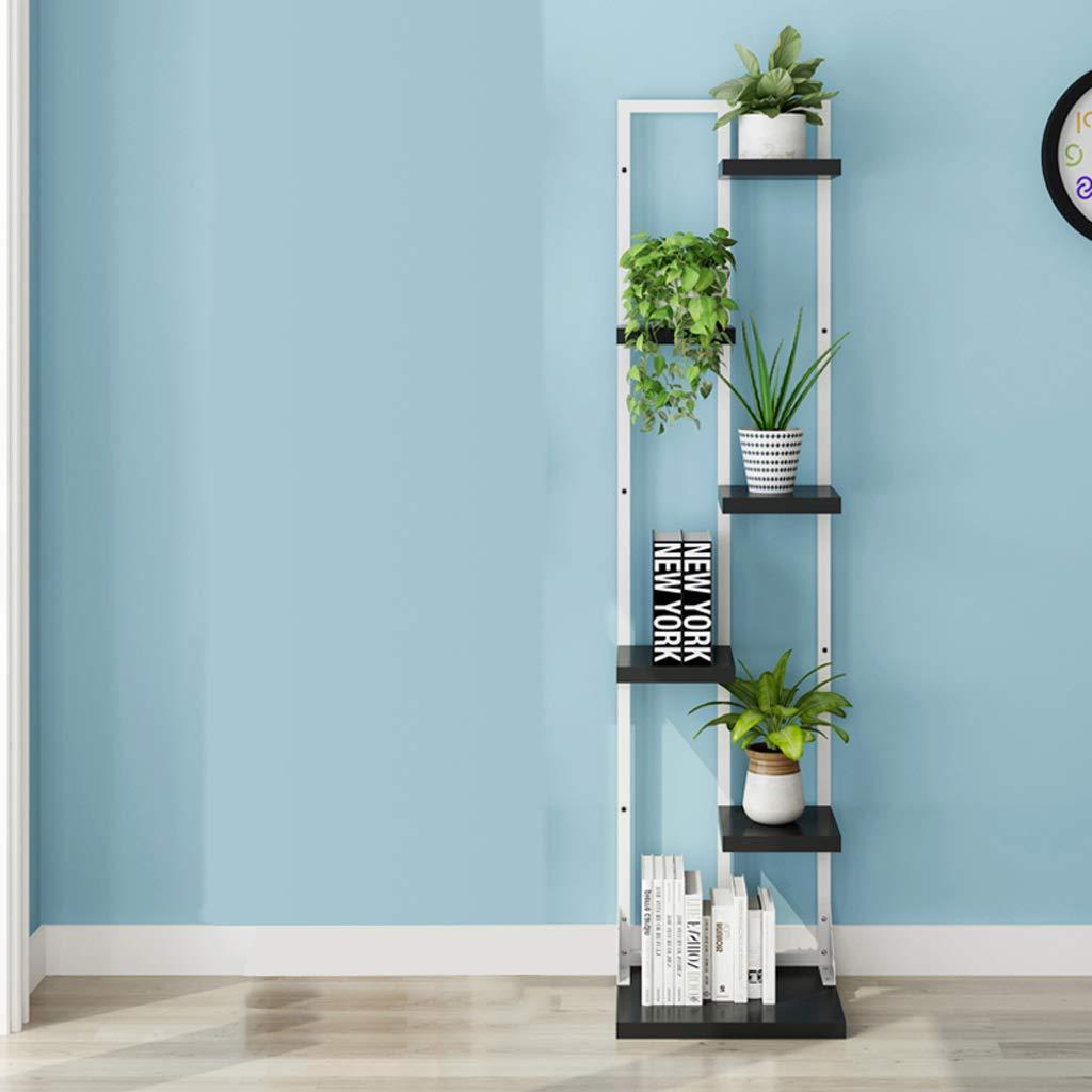 Scaffali porta piante Mensola per fiori in metallo Balcone per interni a pi/ù livelli Ripiani Soggiorno con ruote Portavaso per fiori Colore : Bianca, dimensioni : 34.5 * 30 * 123cm