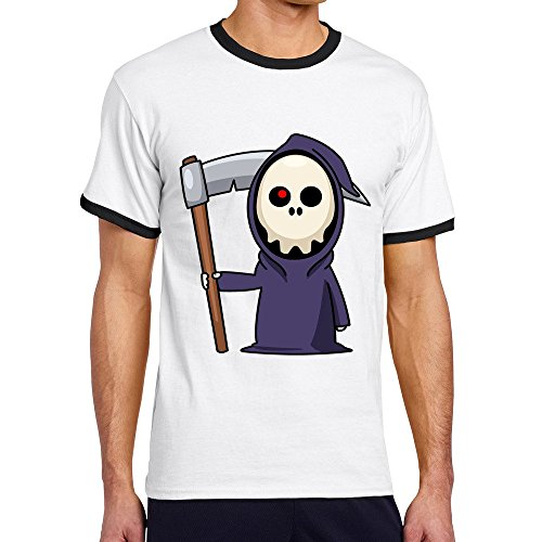 Vansty Halloween Sku O-Neck T-shirt For Boyfriend Black Size L]()