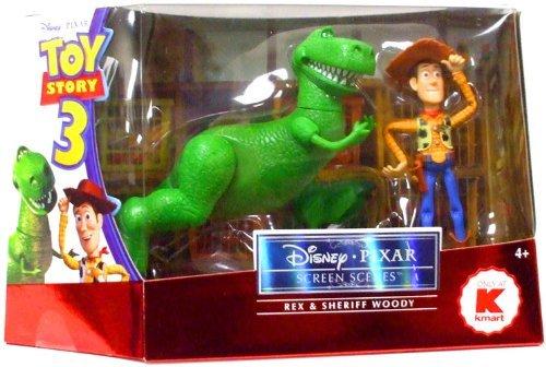 Pixar Toy Story 3 Screen Scenes Action Figure 2Pack Rex Sheriff Woody Disney