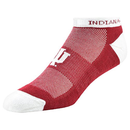 College Edition NCAA Indiana Hoosiers Men's Low Cut Performance Crew Sock, Large, Red