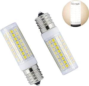 E17 Led Bulb 8W dimmable AC110v 120v E17 led Microwave Oven Light 800LM 80 watt Halogen Equivalent E17 Base White 6000k(2 Pack of)