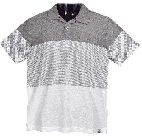 Clack (クラック) ポロシャツ 半袖 三段 ボーダー 切り替え トップス ゴルフ カジュアル 春 夏 秋 メンズ