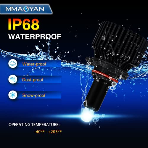9005 LED Headlight Bulbs - 2021 Newest Super Bright 360° 8 Sides 48 CSP Chip 80W 10000LM Lighting HB3 9005 LED Headlight Bulbs High and Low Leam, 6500K Cool White HB3 LED Headlight Bulb Conversion Kit