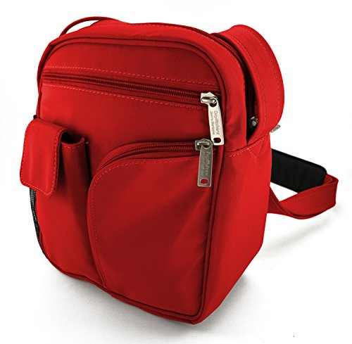 Guide Medium Microfiber Theft BeSafeBags Microfiber DayMakers Bag Red Body Ballistic Cross Polyester Security and Anti Travel by AAaUxY