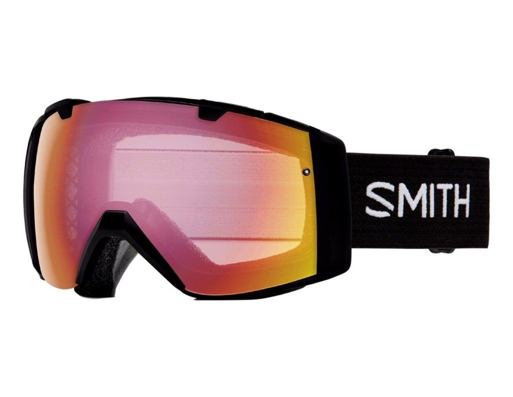 Smith Optics I/O Adult Snowmobile Goggles Black / Photochromic Red Sensor Mirror by Smith Optics