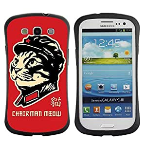 Hybrid Anti-Shock Bumper Case for Samsung Galaxy S3 / Chairman Meow Cat