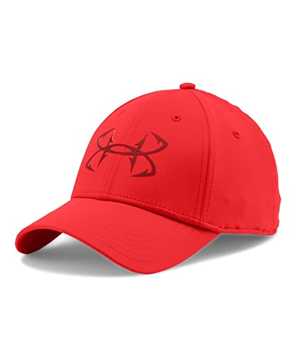 online retailer 18857 5fd82 Under Armour Mens UA Fish Hook Cap One Size Fits All ROCKET RED