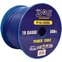 Absolute USA P16-500BL 16 Gauge 500-Feet Spool Primary Power Wire Cable (Blue)