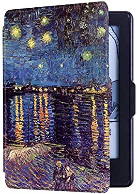 HUASIRU Painting Case for Kindle 8th Generation 2016 Cover with Auto Wake//Sleep ONLY Dimensions 6.3 x 4.5 x 0.36 Inches Surf
