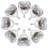 50 Pcs 10 inch Heart Shape Foil Mylar Balloons for