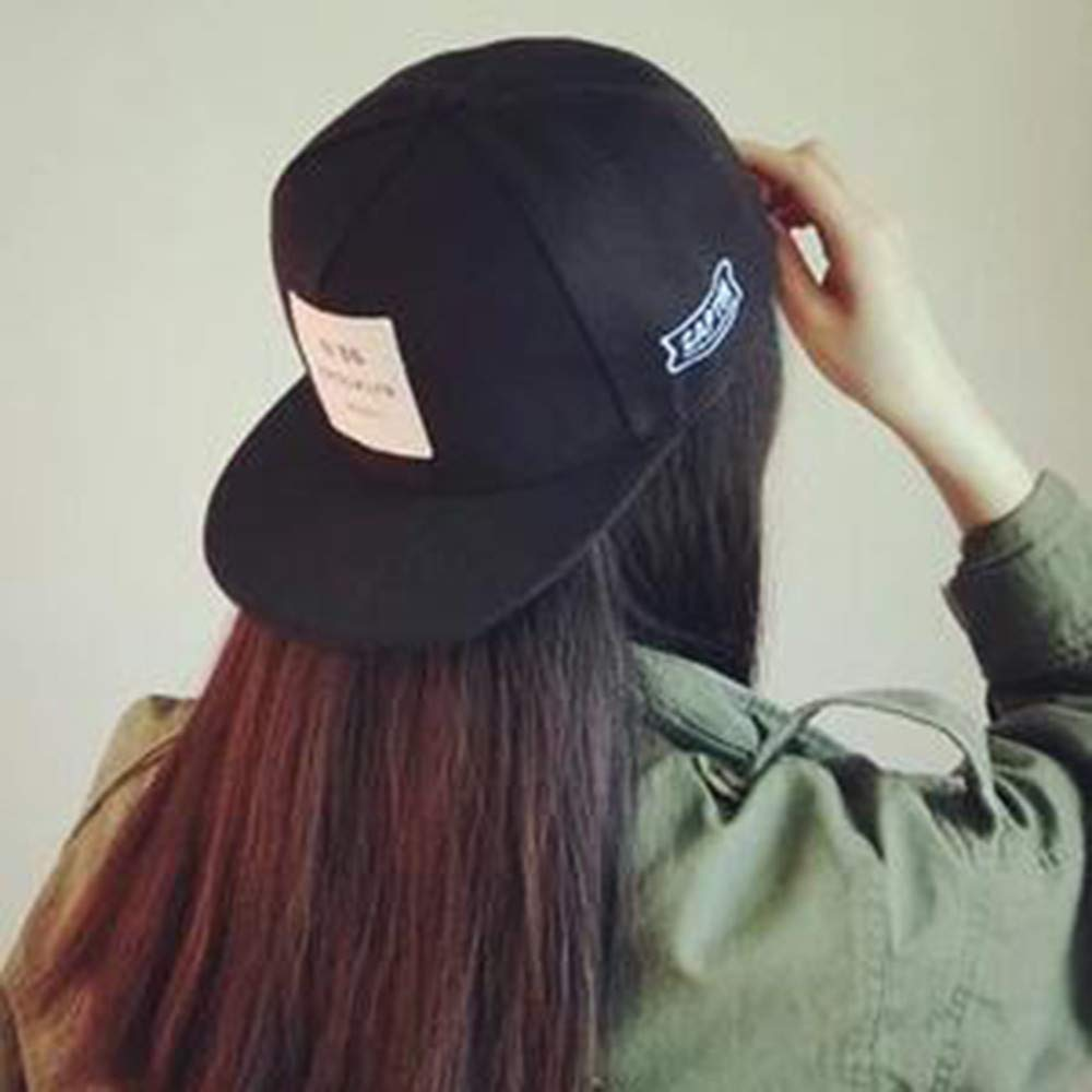 Gorra de béisbol Unisex Hip Hop Danza Ajustable Show Curved Hat con, Gorra de béisbol para Mujer Hip Hop, rendimiento Ajustable, curva con anillo Black at ...