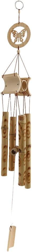 cloche /à suspendre Carillon /à vent en tube de bambou avec papillon
