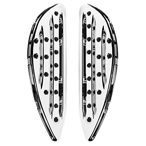Chrome Shallow Cut Front Driver Floorboards For Harley Electra Street Glide Road King Dyna