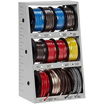 auto wiring spools 43111 12-spool automotive wire assortment with steel rack ...
