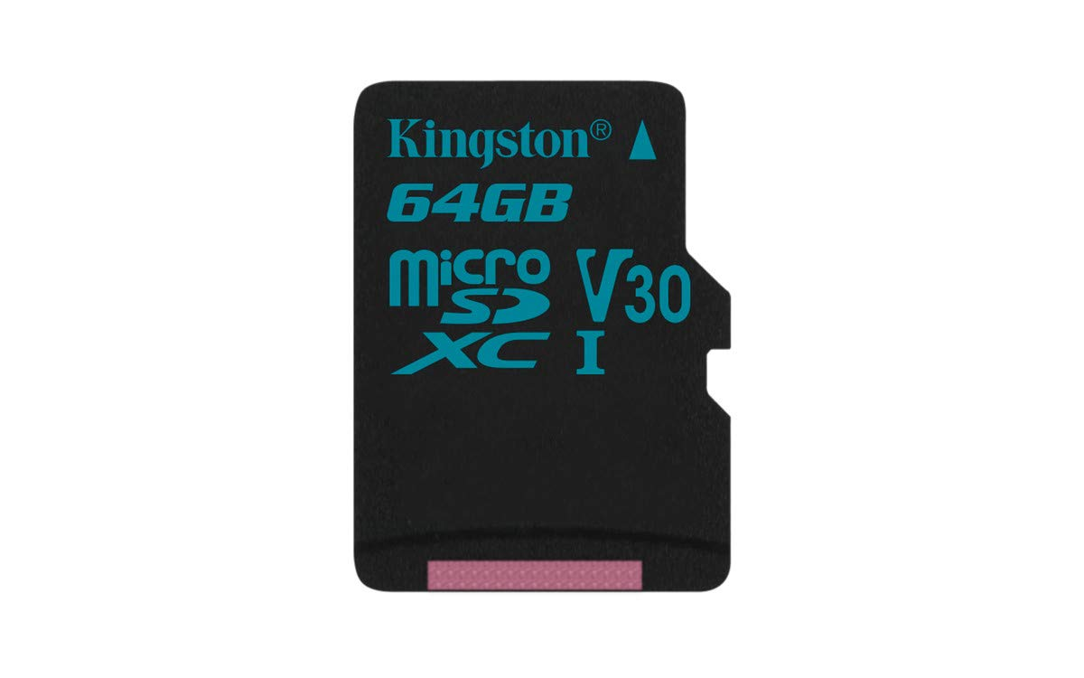 Kingston Canvas Go! 64GB microSDXC Class 10 microSD Memory Card UHS-I 90MB/s R Flash Memory Card with Adapter (SDCG2/64GBET)