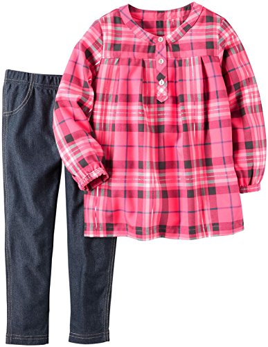 Carter's Baby Girls 2 Pc Playwear Sets 239g244, Plaid, 18M
