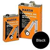 Marsh K Stencil Ink, Gallon Of Black