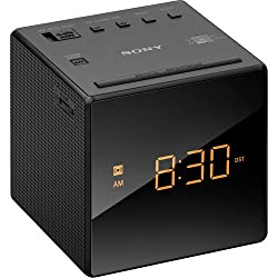 Sony Compact AM/FM Alarm Clock Radio with Easy to Read, Backlit LCD Display, Battery Back-Up, Adjustable Brightness Control, Programmable Sleep Timer, Daylights Savings Time Adjustment, Black Finish