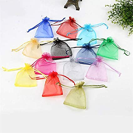 Amazon.com: XLPD 100Pcs Random Mixed Colors Organza Bags ...