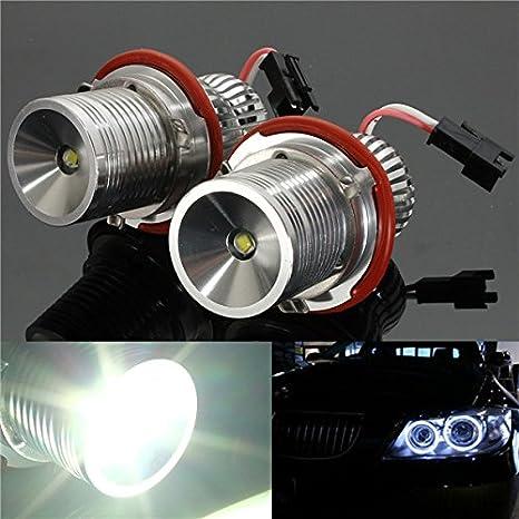 10 W LED Angel Eye Halo Ring Bombilla LED para BMW E39 E60 12/24 V: Amazon.es: Electrónica