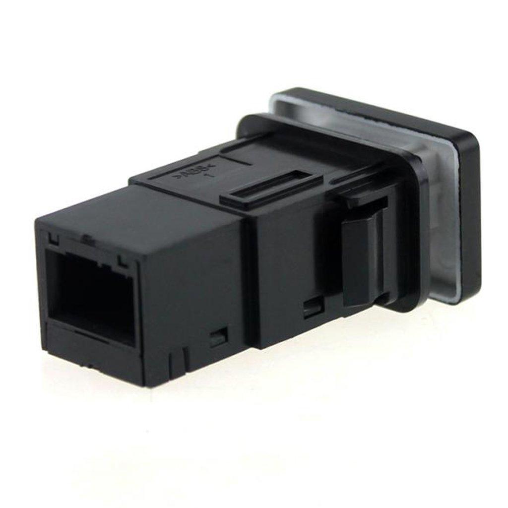 Shiwaki Interrupteur /à Bouton-Poussoir Bleu /à 4 P/ôles pour Toyota Camry Land Cruiser Hilux Symbole enregistreur de Conduite