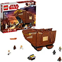 LEGO Star Wars Sandcrawler 1239-Piece Building Kit (75220) + Captain America Action Figure