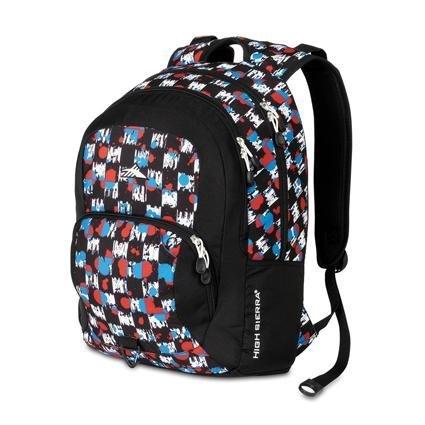 High Sierra 2228-Cubic Inches Sheridan Daypack (Grunge Checker, Black), Outdoor Stuffs