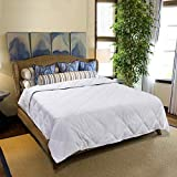 Lightweight Down Wool Blended Comforter for Summer Full Size - 380 TC 100% Cotton Super Soft Shell 650 Fill Power Duvet Insert - Humidity Fighting Hypoallergenic Luxury (80''x90'')