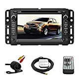 Car GPS Navigation System for GMC Yukon 2007-2014 GMC Acadia 2007-2012 Chevrolet Tahoe 2007-2014 Buick Enclave 2008-2012 Chevrolet Suburban 2007-2014 Double Din Car Stereo DVD Player 7 Inch Touch Screen TFT LCD Monitor In-dash DVD Video Receiver with Built-In Bluetooth TV Radio, Support Factory Steering Wheel Control, RDS SD/USB iPod AV BT AUX IN+ Free Rear View Camera + Free GPS Map of Canada