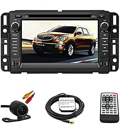 Amazon Com Car Gps Navigation System For Gmc Yukon 2007 2014 Gmc Acadia 2007 2012 Chevrolet Tahoe 2007 2014 Buick Enclave 2008 2012 Chevrolet Suburban 2007 2014 Double Din Car Stereo Dvd Player 7 Inch Touch Screen Tft