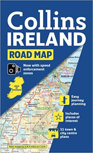 Ireland Road Map Collins Road Map Amazonin Collins Maps Books