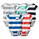 Carter's 5 Pack Bodysuits, Striped, 3 Months