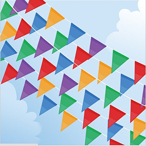 200 Pcs Multicolor Pennant Banner Flags,IsPerfect 250 Ft for Party Decorations ,Birthdays,Festivals,Christmas - Pennant Party Flag