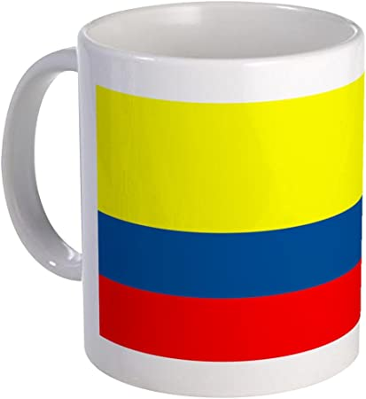 Amazon.com: CafePress Bandera – Colombia Colombiano en ...