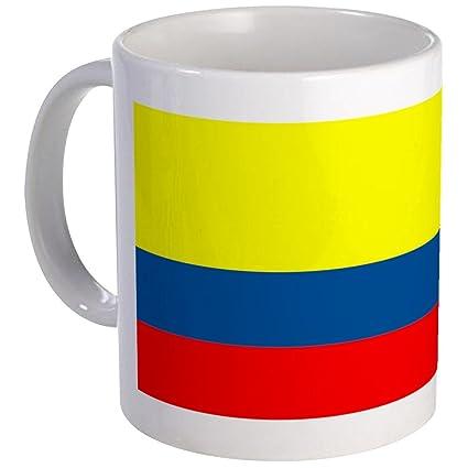Amazon.com: CafePress Bandera – Colombia Colombiano en ...