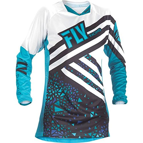 (Fly Racing Men's Kinetic Jersey Blue/Black Youth X-Large)