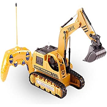 Wireless Remote Control Engineering 5ch 4 Shovelloader Rc Wheel Function Excavator Rc Excavator And Light Electronic Toy Model 50% OFF Rc Trucks Toys & Hobbies