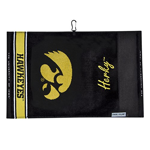 Team Effort Iowa Hawkeyes Face/Club Jacquard Towel