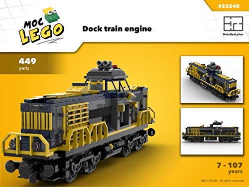 Amazon com: Train Engine Cargo Dock (Instruction Only): MOC