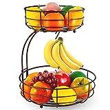 Bextsrack 2-Tier Countertop Fruit Basket Bowl with