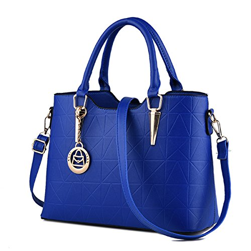 Royal Blue Tote Handbag - XMLiZhiGu Women's PU Leather Top-Handle Handbag Shoulder Crossbody Bag Tote Royal Blue