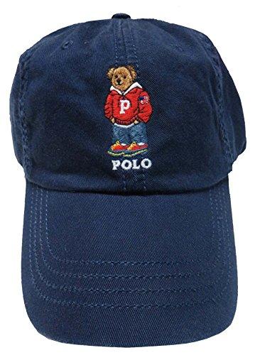 ns Teddy Bear Adjustable Ball Cap Hat One Size (Navy Blue) (Teddy Cap)
